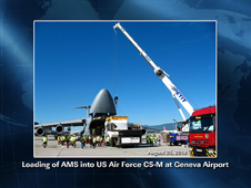 Loading of AMS into US Air Force C5-M at Geneva Airport