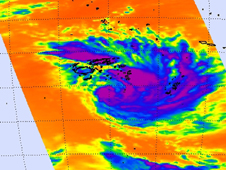 AIRS image of Tropical Storm Bune