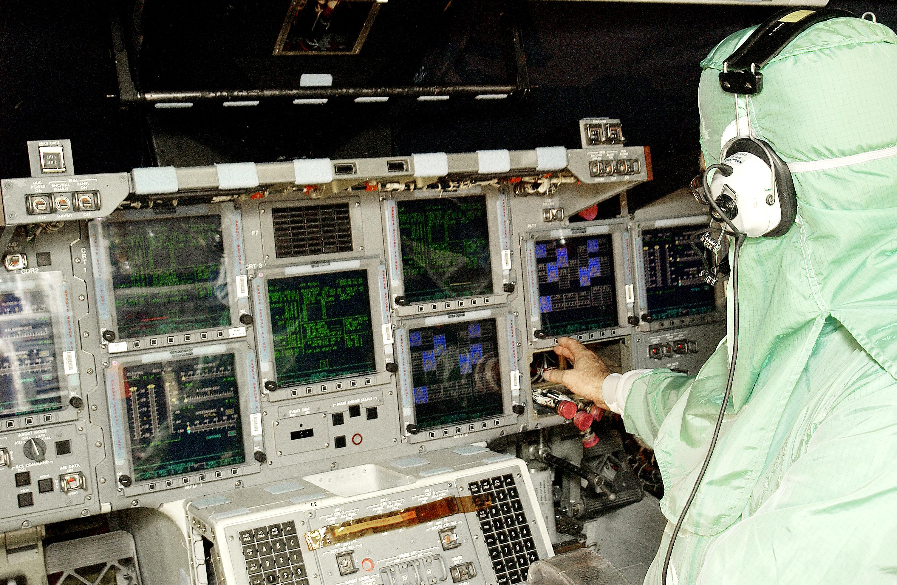 space shuttle original cockpit - photo #47