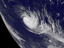 GOES image of Tropical Storm Bune