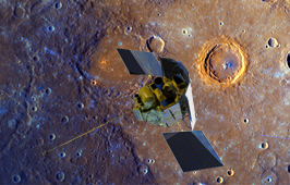 MESSENGER above Mercury
