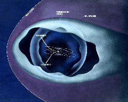 Voyager location in termination shock area