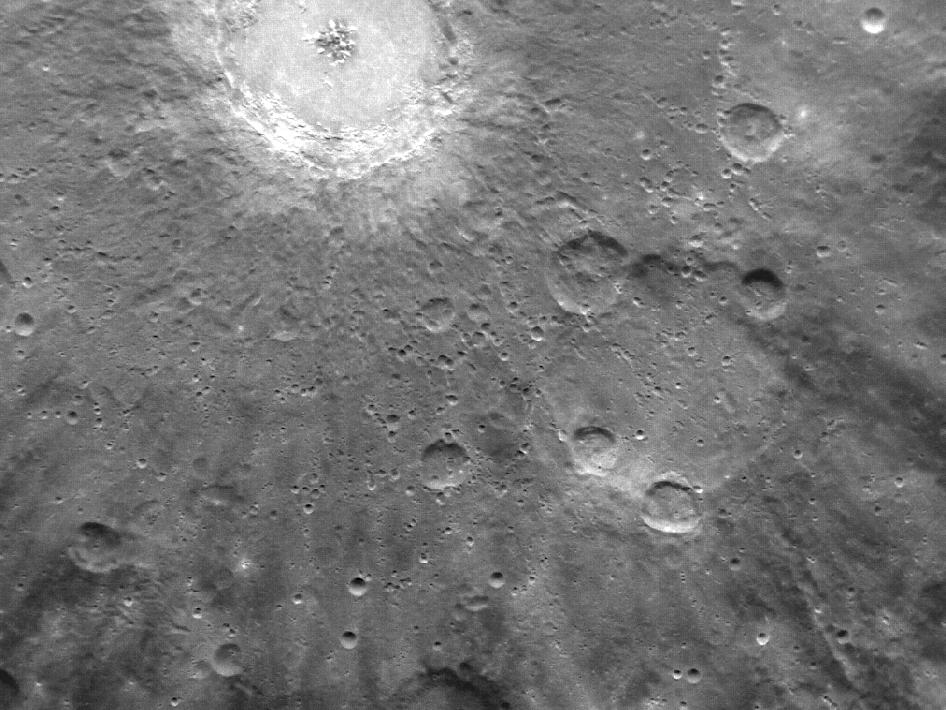 MESSENGER Image from Orbit of Mercury