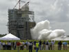 Operators at NASA's John C. Stennis Space Center conduct the last scheduled space shuttle main engine test on the A-2 Test Stand on July 29, 2009.