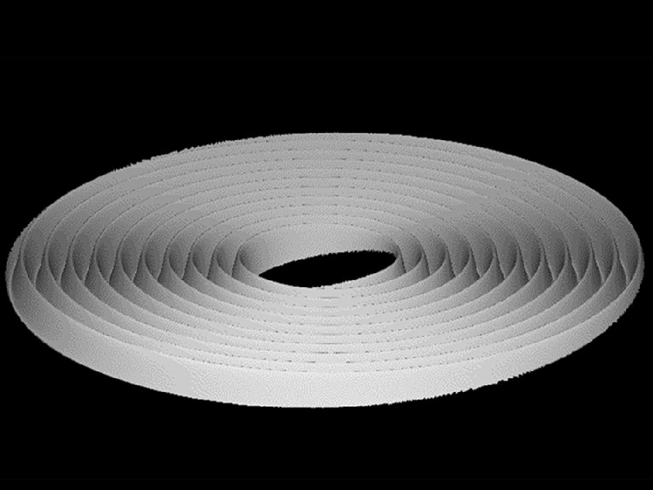 Tilting Saturn's rings animation graphic