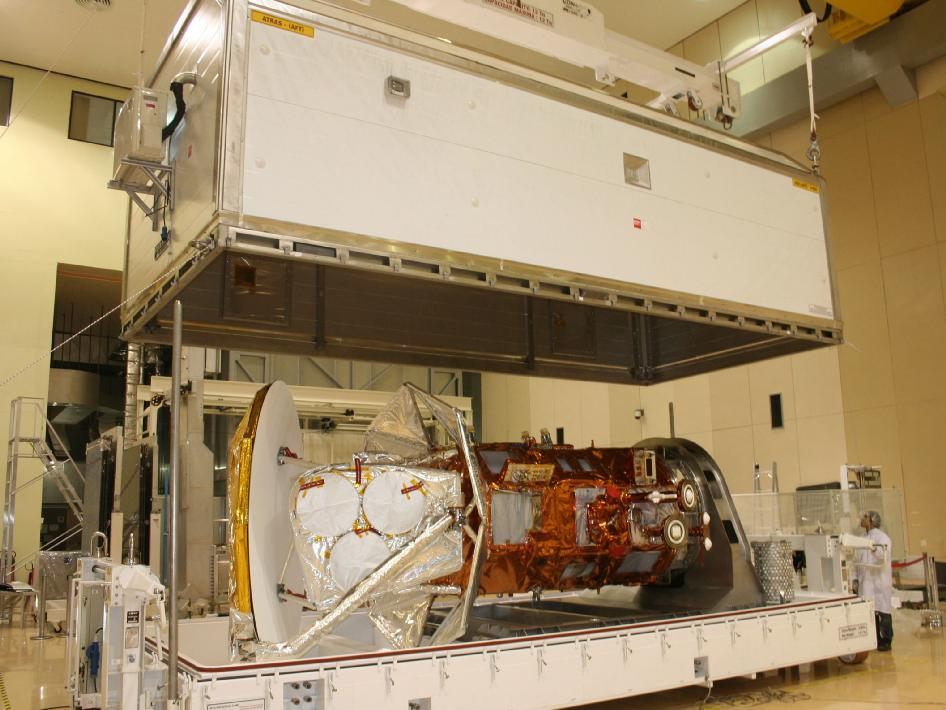 Aquarius - SAC-D Spacecraft is prepped for shipping to California