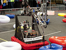 Robot performs at competition.