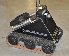 Robotics team builds police robot.