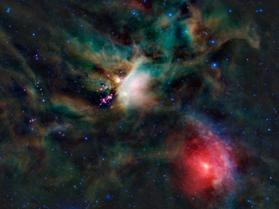 The Rho Ophiuchi cloud complex as seen by NASA's WISE spacecraft