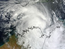 Tropical Cyclone 20S on April 2 when it was moving away from the coast and it was still a tropical storm.