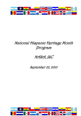 National Hispanic Heritage Month Program