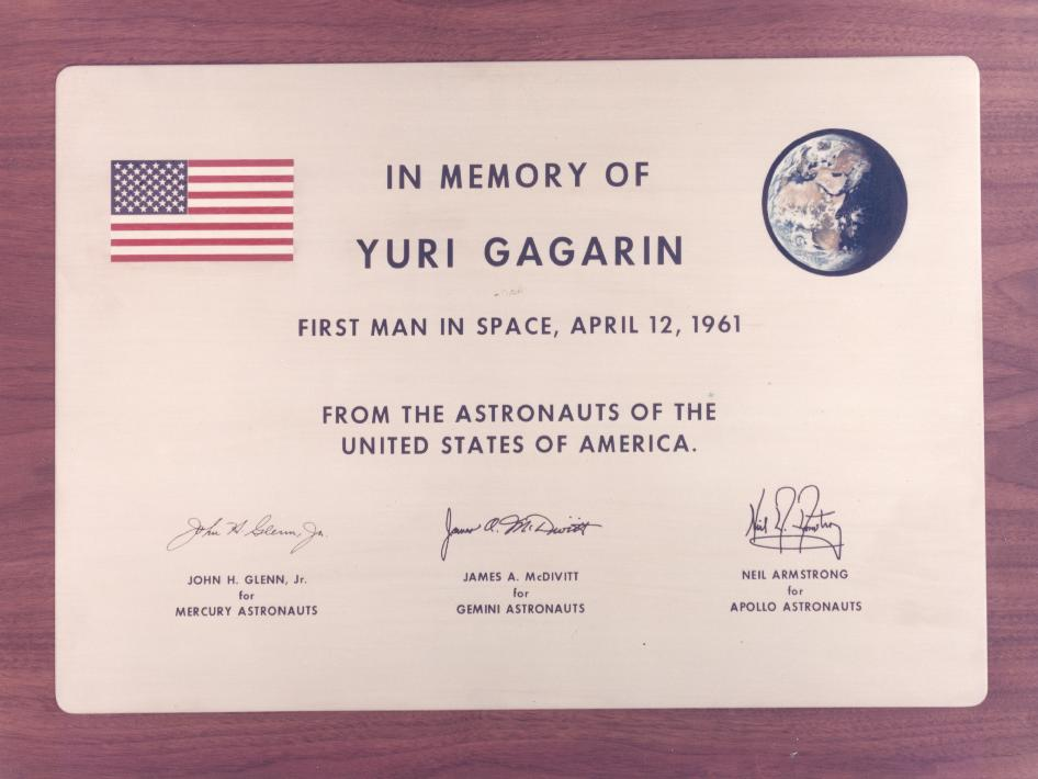 NASA - Memorial Plaque for Yuri Gagarin