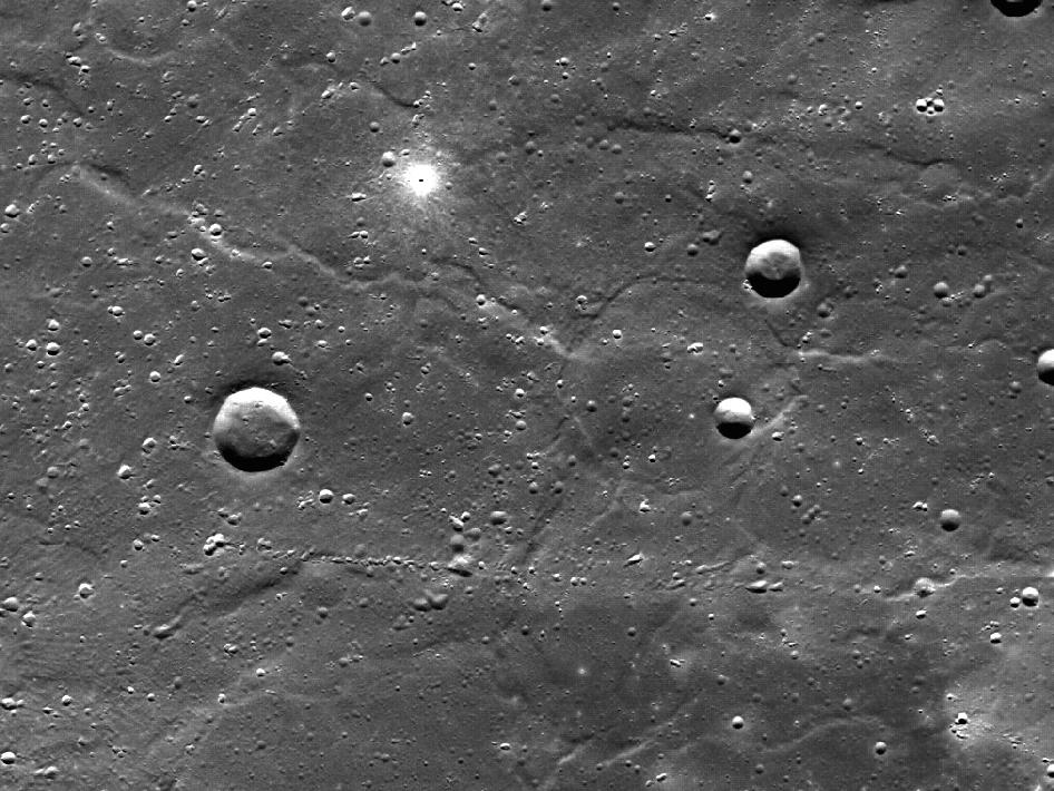 Image from Orbit of Mercury:Two Kinds of Small Craters