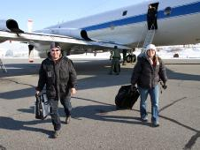 After a prop valve repair in Wallops, the P-3 returns to Kangerlussuag, Greenland with Lora Koenig joining the field.