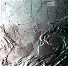 A true-color image over the North Pole from MODIS flying aboard the Terra spacecraft, on May 5, 2000