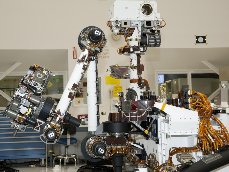 Arm and mast of NASA Mars rover Curiosity