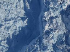 The calving front of Greenland's fastest-moving major glacier, Jakobshavn.