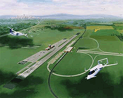 illustration of SATS airport
