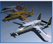 computer graphic of small airplanes