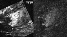 These images obtained by NASA's Cassini spacecraft show the feature named Tortola Facula on Saturn's moon Titan.
