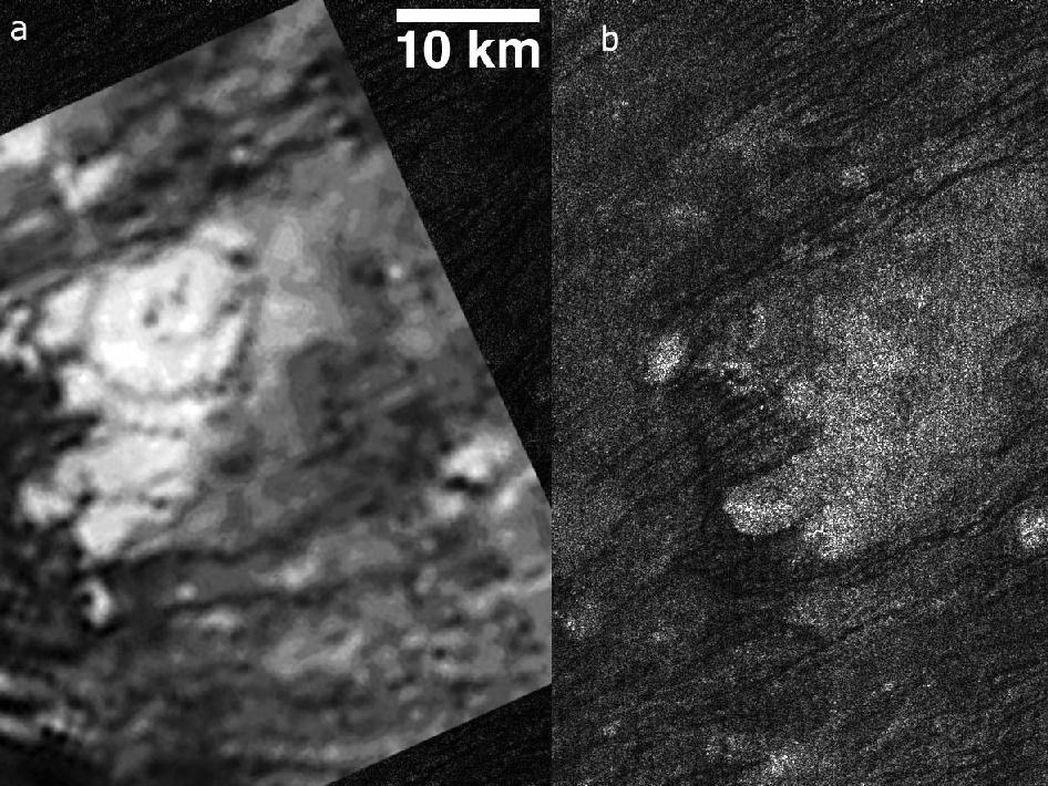Tortola Facula on Saturn's moon Titan