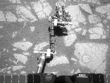 Opportunity's Arm and 'Gagarin' Rock, Sol 405