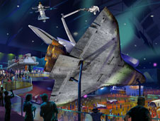 Artist concept of shuttle display at Kennedy