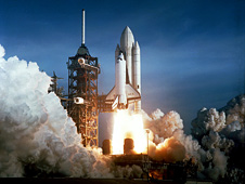 STS-1 shuttle launch