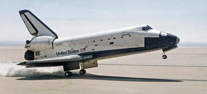 STS-1 landing
