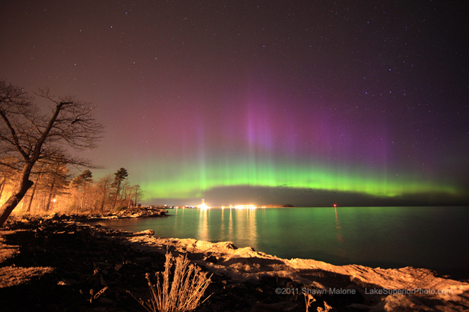 A sky watcher from Marquette, Michigan sent this picture, taken before sunrise on April 12th.