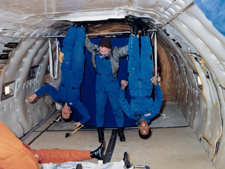 NASA - Bluford Undergoes Anti-gravity Training