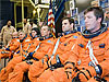 STS-134 crew during a training session