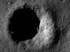 Low Sun image of a fresh crater in the lunar highlands