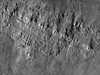 Layering exposed in the wall of Bessel crater