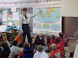 Photograph of class using Mission Geography