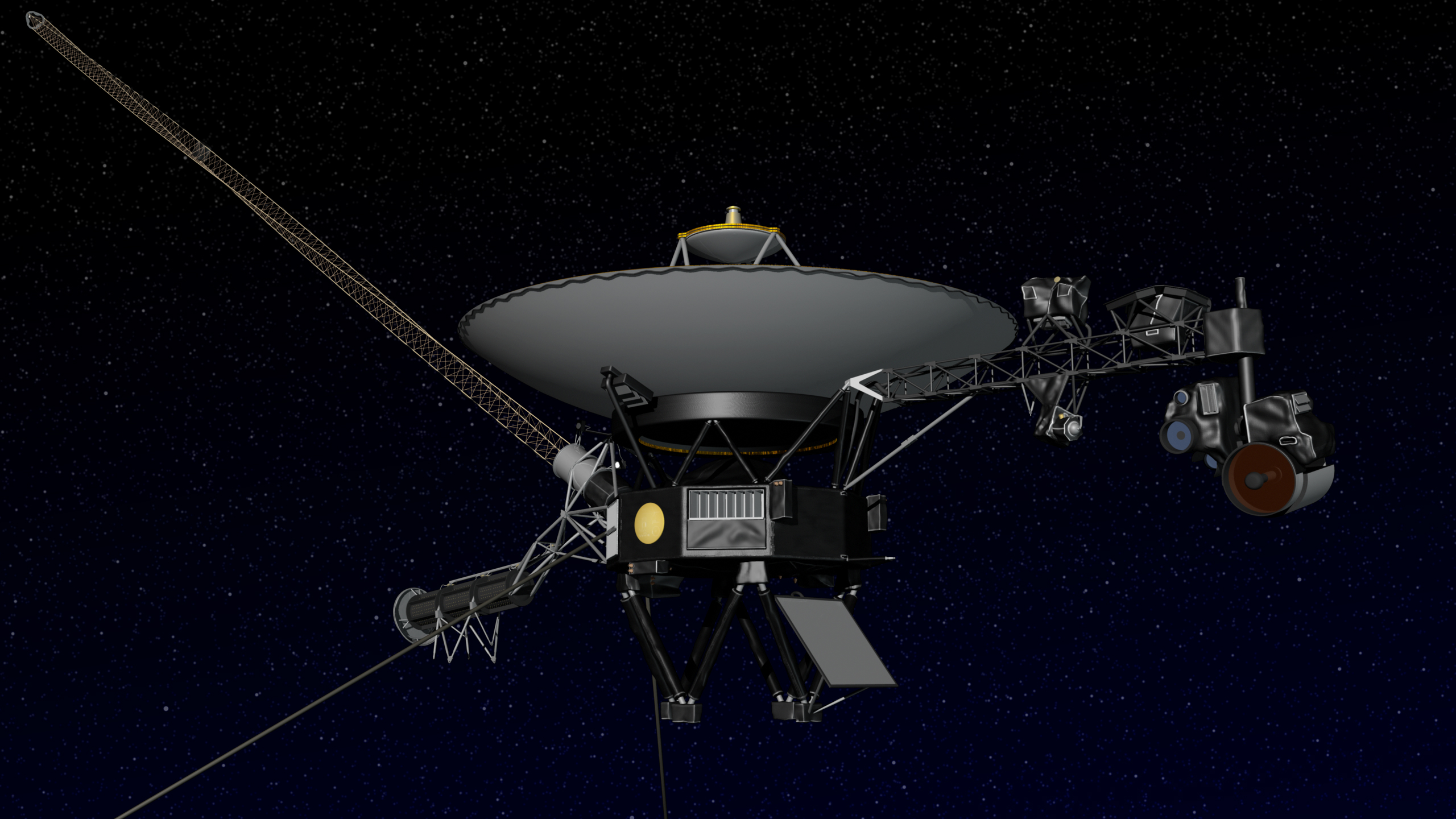 Artist concept of NASA's Voyager spacecraft. Image credit: NASA/JPL ...