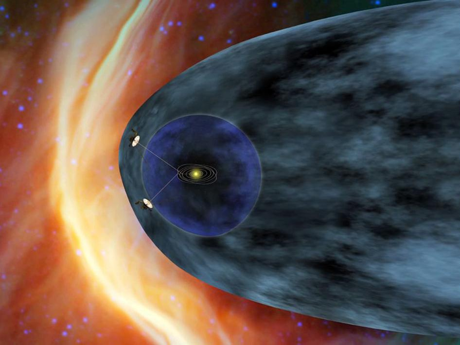 Artist concept of the two Voyager spacecrafts.