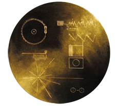 The golden record on-board the Voyager spacecrafts.