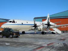 The P-3B on the ground in Thule, Greenland.