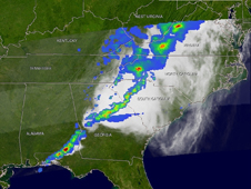 TRMM view of storm system at East Coast