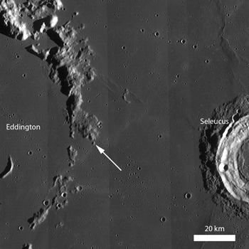 LROC WAC monochrome mosaic featuring the Eddington crater