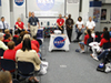 NASA panel experts talking with a group of students.