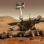 Artist rendition of a Mars rover