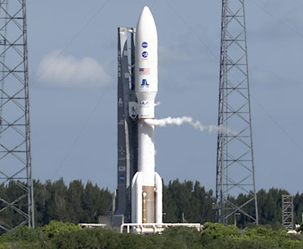 The Atlas V carrying Juno.
