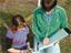 Gianna D'Emilio and Chris Hanawalt Taking Aerosol Measurements