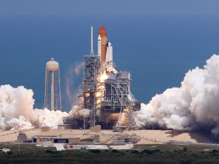 Atlantis launches on the STS-132 mission