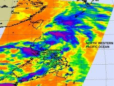 Infrared image of Tropical Storm Aere was captured by satellite on May 9 at 17:29 UTC.