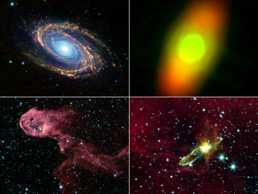 Images from Spitzer Space Telescope