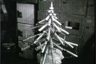 Skylab 4 Christmas tree made of cans.