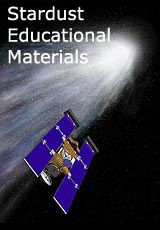 Computer graphic of Stardust with text saying Stardust Educational Materials